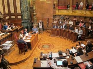 Imagen de la sala de plenos del Ayuntamiento de Barcelona
