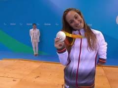 """Sarai Gascón, """"contentísima"""" tras su tercera plata en Río"""