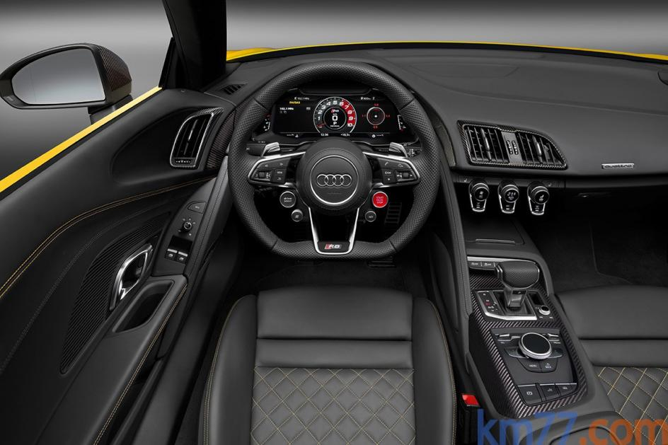 Interior del Audi R8 Spyder