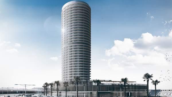 Hotel málaga capital dique levante lujo cinco estrellas proyecto seguí al bidda