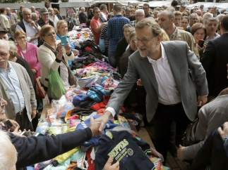 Mariano Rajoy de campaña en Galicia sin Feijóo