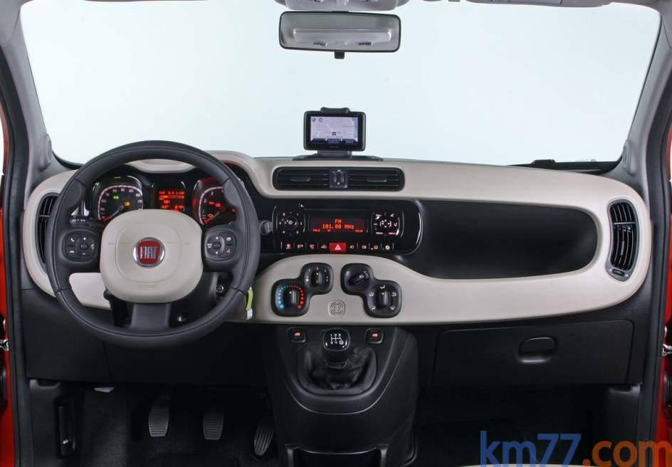 Aspecto interior del Fiat Panda