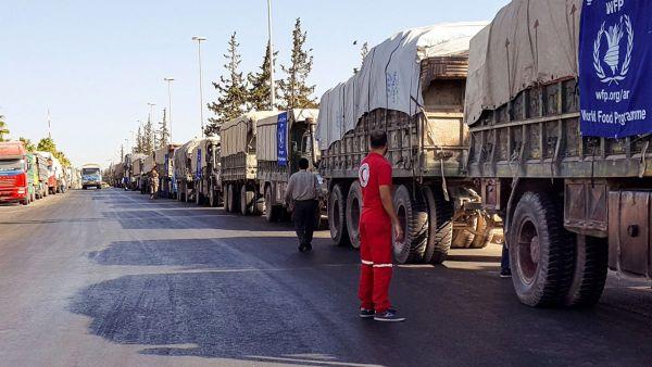 Ataque contra un convoy humanitario en Siria