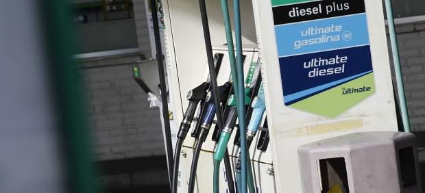 Fotografía de una gasolinera