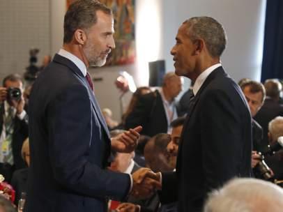 El rey Felipe y Obama