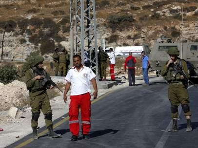 Un paso fronterizo entre Israel y Palestina
