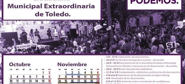 Calendario Podemos Toledo