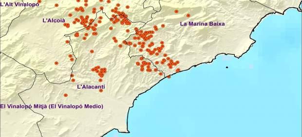 Un total de 278 llamps núvol-terra cauen a la Comunitat Valenciana