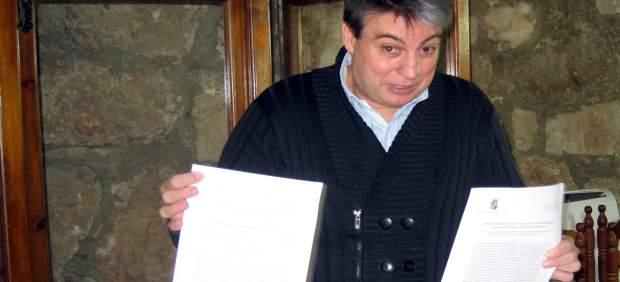 Policarpo Sánchez en una rueda de prensa