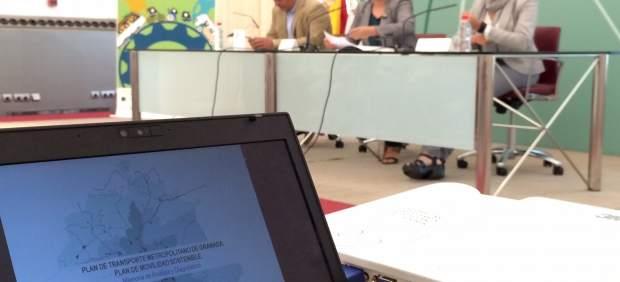 Sandra García, durante la presentación del plan de movilidad