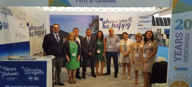 Expositor catalán en la feria Seatrade Cruise Med
