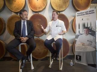 Félix Martí y el chef Berasategui