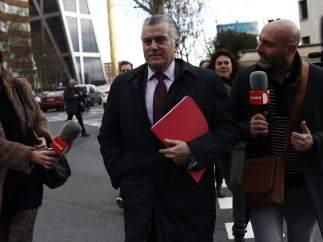 Luis Bárcenas acude a declarar por el caso de los ordenadores