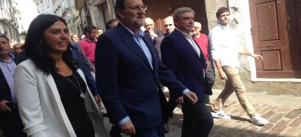 Mariano Rajoy en Mondoñedo (Lugo).