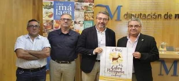 Salado, Artacho, Micheo y Maeso en la presentación de la 'Fiesta de la cabra'