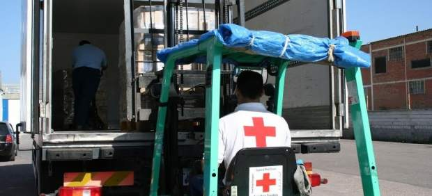 Uno de los camiones de alimentos
