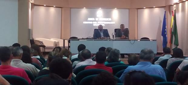 Germán González en la jornada sobre Educación Permanente