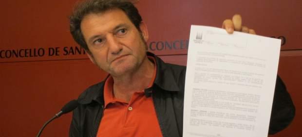 El concejal de Espazos Cidadáns de Santiago, Jorge Duarte, de Compostela Aberta