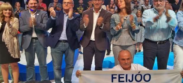 Feijóo en el mitin central de Ourense, campaña del 25S
