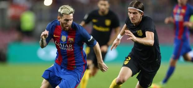 Messi y Filipe Luis