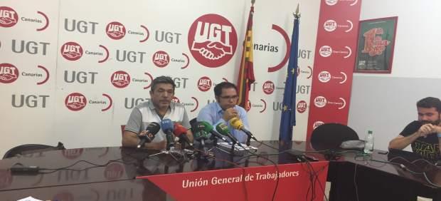 Rueda de prensa de UGT y CCOO Canarias