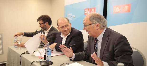 Xoaquín Fernández Leiceaga y Fernando González Laxe.