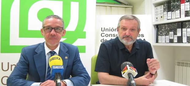 El abogado Santiago Palazón y el presidente de la UCA, José Ángel Oliván