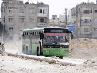 Evacuación de rebeldes en Homs