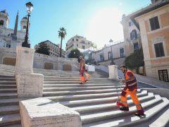 Roma reabre la escalinata de la plaza de España