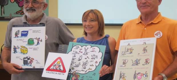Ortifus, Soriano y Ribó presentando la campaña de concienciación de limpieza