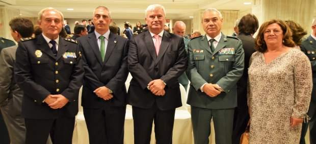 Villar del Saz, Cuadrado, Alcalde, Tocón y Júlvez, este jueves en Zaragoza.