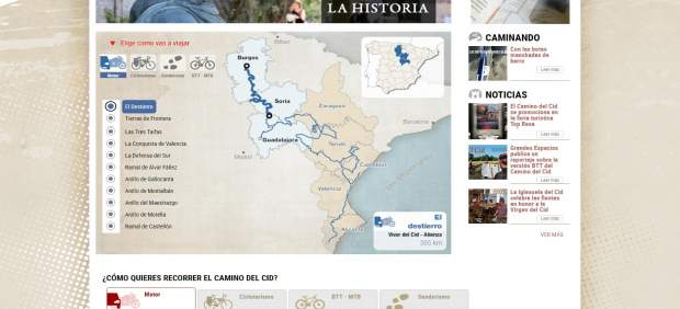 Nueva página web del Camino del Cid