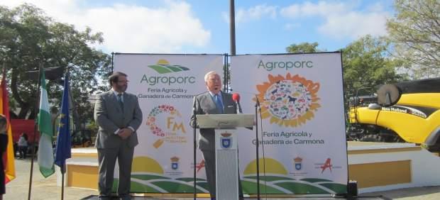 Reconocimiento de Agroporc al presidente de Caja Rural del Sur.