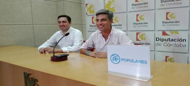 Estepa y Lorite en la rueda de prensa