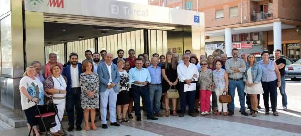 Miguel Ángel Heredia en la reunión del reunión del Consejo de Ciudad del PSOE.