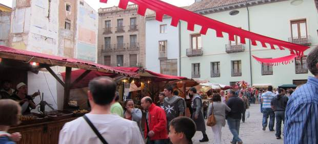 Mercado medieval en las Alfonsadas de Calatayud (Zaragoza)