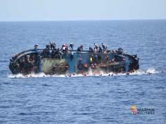 Rescate de una embarcación cerca de Libia por la Marina italiana