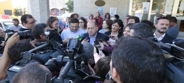 Xoaquín Fernández Leiceaga en Cuntis.