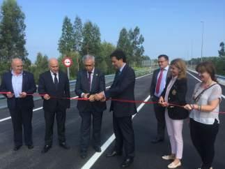 Inauguración del ramal de acceso al polígono de Barres