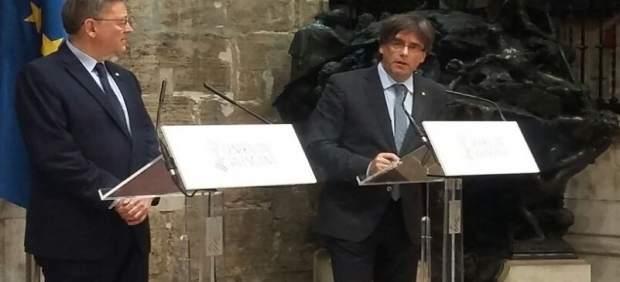 Puig y Puigdemont se reúnen en Valencia