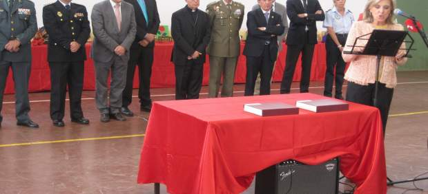 María José Salgueiro, durante el discurso pronunciado en la prisión.