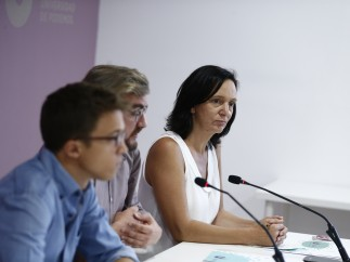 Carolina Bescansa, Íñigo Errejón y Jorge Lago