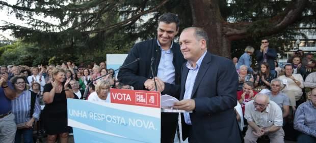 Acto del PSdeG en Redondela, con Pedro Sánchez