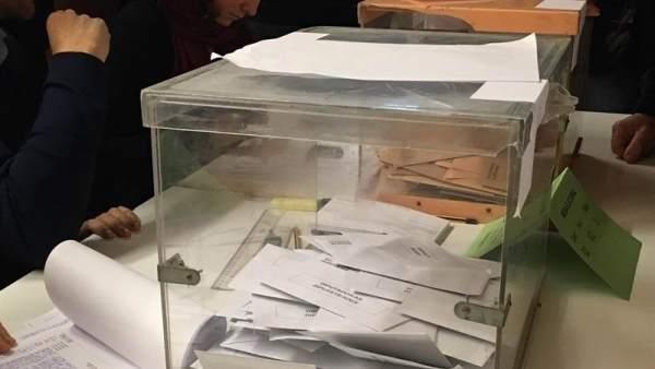 Votos en una urna
