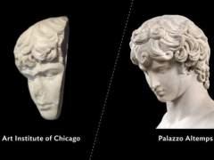 Antinoo, el amante del emperador Adriano, recupera su rostro