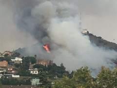 Segundo incendio en una semana en Collserola