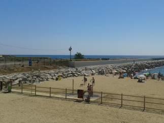 Playa para perros en Barcelona.