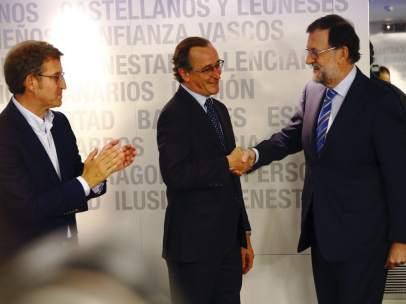 Rajoy, Alonso y Feijóo