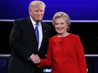 Hillary y Trump, en el debate del 26 de septiembre