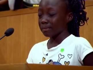 Zinnia Oliphant, en su discurso en Charlotte sobre las muertes de afroamericanos
